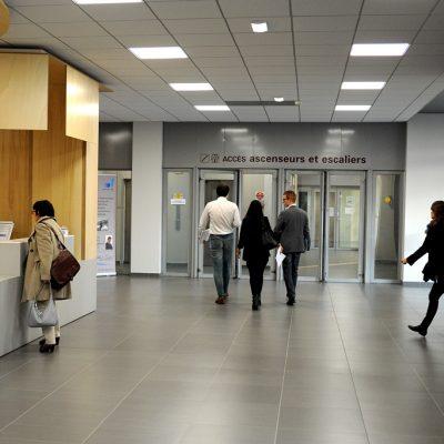 Un hall d'accueil refait à neuf